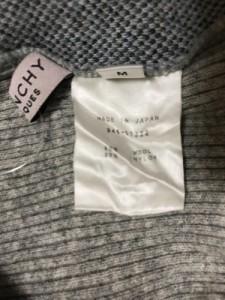 ジバンシー 半袖セーター サイズM レディース 美品 グレー×ネイビー×ライトブルー ハイネック/チェック柄/BOUTIQUES【中古】