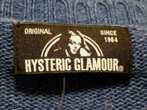 ヒステリックグラマー HYSTERIC GLAMOUR 長袖セーター サイズF レディース ネイビー×マルチ【中古】