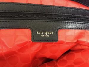 ケイトスペード Kate spade トートバッグ レディース レッド×アイボリー×黒 ナイロン×レザー【中古】