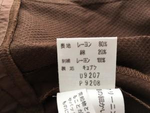 コージワタナベ スタイル KOJI WATANABE STYLE ワンピース サイズ11 M レディース ダークブラウン×ブラウン×黒 花柄/刺繍【中古】