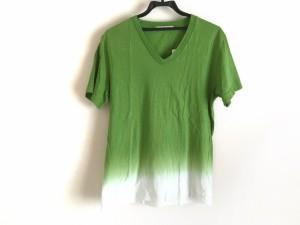 ロンハーマン Ron Herman 半袖Tシャツ サイズM メンズ ライトグリーン×白【中古】