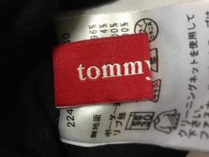 トミーガール tommy girl ブルゾン サイズS レディース 黒×白×グレー ジップアップ/リバーシブル/春・秋物【中古】
