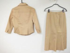 ミッシェルクラン MICHELKLEIN スカートスーツ サイズ38 M レディース ライトブラウン【中古】