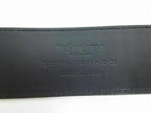 イヴサンローランリヴゴーシュ YvesSaintLaurent rivegauche (YSL) ベルト レディース 美品 223970 黒 エナメル(レザー)【中古】
