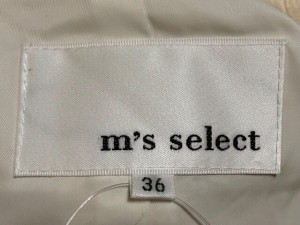 エムズセレクト m's select ブルゾン サイズ36 S レディース アイボリー ニット/春・秋物【中古】
