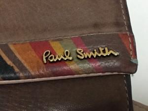 ポールスミス PaulSmith 長財布 レディース ダークブラウン×マルチ レザー【中古】