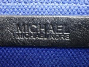 マイケルコース MICHAEL KORS ハンドバッグ レディース ブルー×黒 キャンバス【中古】
