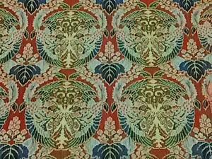 タツムラ 龍村美術織物 小物 レディース 新品同様 レッド×ベージュ×マルチ テーブルクロス シルク【中古】