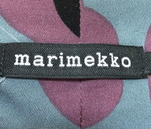 マリメッコ marimekko チュニック サイズ40 M レディース グレー×ボルドー×黒 花柄【中古】