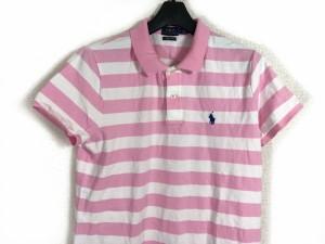 656930d3395d8 ポロラルフローレン POLObyRalphLauren ワンピース サイズLG L レディース ピンク×白 ポロシャツワンピ ボーダー