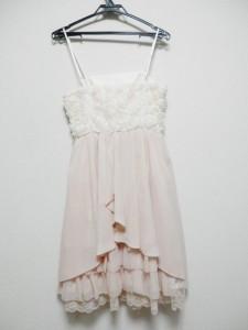 5df1a3974b3fc レッセパッセ LAISSE PASSE ドレス サイズ36 S レディース ピンク×アイボリー フラワー レース 中古. 画像1
