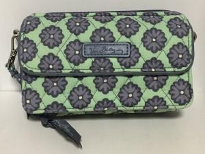 9f4fa1cae905 ベラブラッドリー Vera Bradley 財布 レディース ライトグリーン×ダークグレー 花柄/キルティング コットン