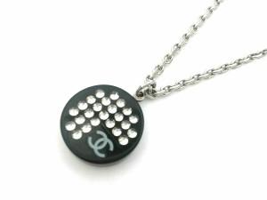 37c9b7d92552 シャネル CHANEL ネックレス レディース 金属素材×プラスチック×ラインストーン シルバー×黒×クリア