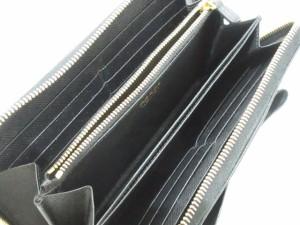 8b65dbaac526 プラダ PRADA 長財布 レディース 美品 - 1ML506 黒 ラウンドファスナー/リボン/ロゴ. 画像1