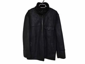 4a13dd549646 クロコダイル CROCODILE コート サイズM メンズ 黒 ジップアップ/冬物【中古】