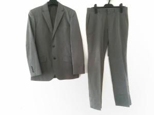 53f975ff69c9d コムサイズム COMME CA ISM シングルスーツ サイズS メンズ グレー ストライプ 中古