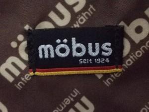 b390397543a0 モーブス mobus リュックサック レディース ネイビー×白×レッド 合皮【中古】. 画像1