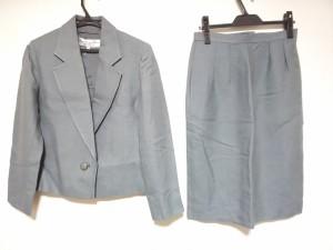 3e3bf0c57ea279 クリスチャンディオール ChristianDior スカートスーツ サイズ9 M レディース グレー 肩パッド/PRET-A