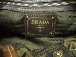 28a4c36d9d9b プラダ PRADA ショルダーバッグ レディース ロゴジャガード BN1757 ダークブラウン×ブラウン 革タグ/巾着. 画像1