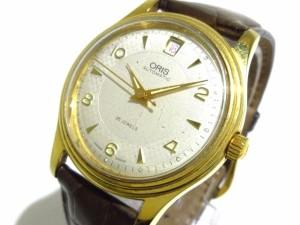68d5dc9465 オリス ORIS 腕時計 7445 ボーイズ 革ベルト/裏スケ アイボリー【中古】