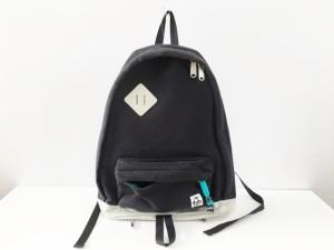 94a6d93c526d チャムス CHUMS リュックサック レディース 黒×ライトグレー コットン【中古】