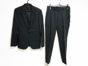 【中古】 レディースパンツスーツ ツイード/ ラメ (メゾン ド リーファー) S 黒×マルチ Maison de Reefur サイズ36 レディース