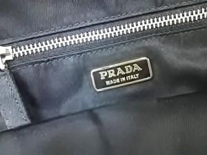 33afac98f91e プラダ PRADA ハンドバッグ レディース - BN1146 黒 グログランリボン/ビーズ ナイロンサテン×化学繊維. 画像1