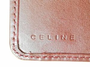 009d8c835765 セリーヌ CELINE Wホック財布 レディース - 黒×ブラウン スエード【中古】. 画像1