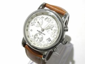 d6063b3d55 モンブラン MONTBLANC 腕時計 マイスターシュテック 7039 レディース クロノグラフ アイボリー【中古】