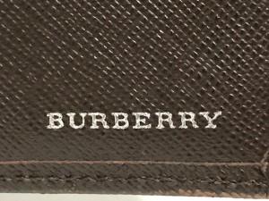 c0278d0a450e バーバリー Burberry 3つ折り財布 レディース ダークブラウン がま口 レザー【中古】. 画像1