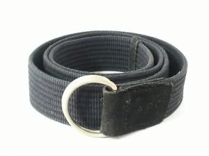 ベルト アーペーセー A.P.C. メンズ Navy blue 【Topstitched leather belt】