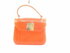 c7047b9bc699 フルラ FURLA ハンドバッグ レディース キャンディバッグ オレンジ ミニサイズ PVC(塩化ビニール)【中古