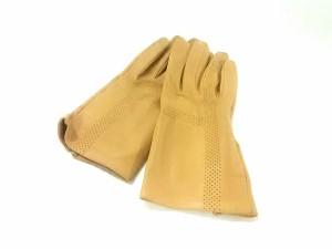 15fcc68fda7d エルメス HERMES 手袋 レディース 美品 ライトブラウン レザー【中古】