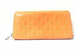 0cc2dba71952 コーチ COACH 長財布 レディース オプアート オレンジ ラウンドファスナー/型押し加工 エナメル(レザー