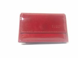 07964c25f828 ブリー BREE 3つ折り財布 レディース レッド×黒 ミニサイズ エナメル(合皮)