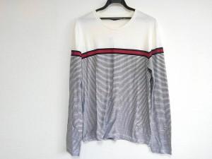 95aa57bd86c8 グッチ GUCCI 長袖Tシャツ サイズL レディース 美品 白×黒×レッド ボーダー