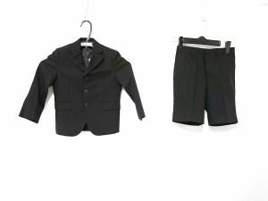 92324a750fd11 ミキハウス miki HOUSE シングルスーツ サイズ110 メンズ 黒 ストライプ 子供服 中古