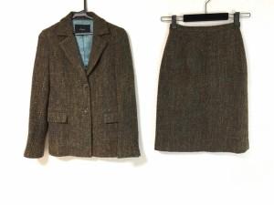 b0caa0af523615 ルーニィ LOUNIE スカートスーツ サイズ38 M レディース 美品 ダークブラウン×ライトブラウン×