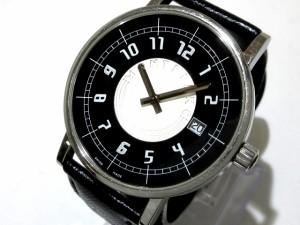 65e77031fa モンブラン MONTBLANC 腕時計 7045 メンズ 社外ベルト 黒×シルバー【中古】