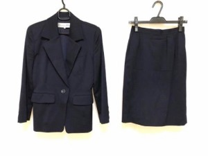 b97fc4efcc9dc0 クリスチャンディオール ChristianDior スカートスーツ サイズ9 M レディース ネイビー【中古】
