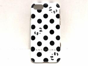 c443bb4408 アンテプリマミスト ANTEPRIMA MISTO 携帯電話ケース レディース 白×黒×ダークグレー ドット柄/