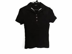 bb4581d12549db バーバリーロンドン Burberry LONDON 半袖ポロシャツ サイズ1 S レディース 黒【中古】