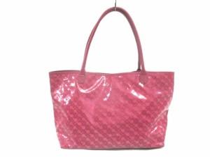 f337054aec93 ゲラルディーニ GHERARDINI トートバッグ レディース ピンク PVC(塩化ビニール)×レザー【中古】
