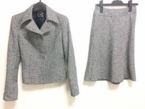 19dde36685faa1 クードシャンス CdeC COUP DE CHANCE スカートスーツ サイズ38 M レディース 白×黒×