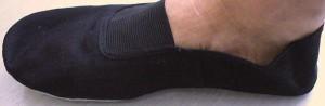 【送料120円メール便OK!】カンフー&太極拳シューズ黒/白(スエード底・布靴)