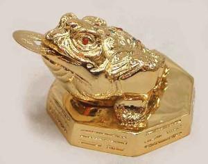 金運アップの代表のひとつ銭蛙