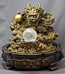 【風水】龍珠(真鍮製/本水晶)