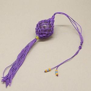 【風水】紫の網の袋(アメジスト30ミリ玉入り)