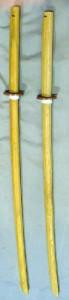 白樫製木刀(ロング、鍔付き)
