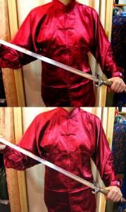 太極拳スーツ(太極拳表演服) エンジ色